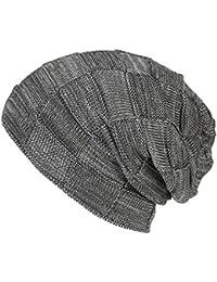 WinCret Hombre Gorro de Punto Invierno Beanie - Invierno Cálido Sombreros  con Malla de Punto Fino Patrón - Unisex… 325f98d93a9