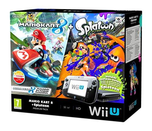 Nintendo Wii U: Premium Mario Kart 8 + Splatoon - game consoles (Wii U, Flash, Black, 802.11b, 802.11g, 802.11n, DDR3, IBM PowerPC)