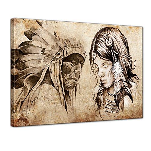 Kopfschmuck Apache (Bilderdepot24 Leinwandbild