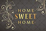 ID matt Sweet Home Boston, Synthetikfasern, Gold schwarz, 50 x 80 x 0,5 cm