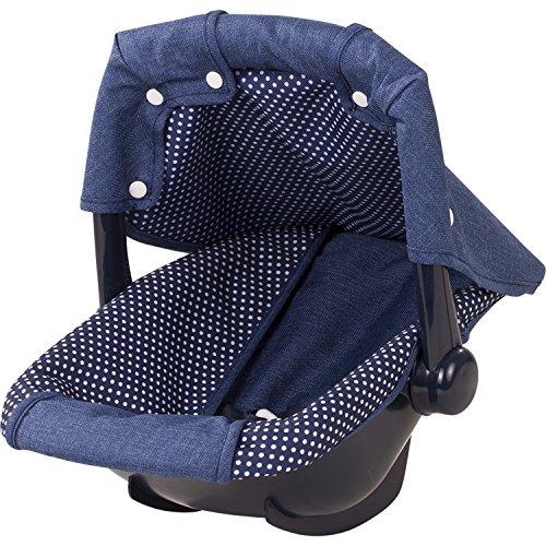 Braune Denim-stoff (Götz 3402941 Puppen Babytrage Denim & Spots für alle Babypuppen von 30 cm bis 46 cm und Stehpuppen von 45 cm bis 50 cm - Ideal für die Autofahrt)