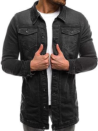 UJUNAOR Charm Men's Casual Slim Fit One Button Suit Blazer Coat Jacket Tops Men Fashion