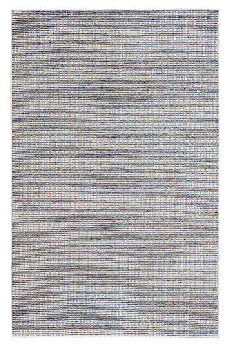 Morgenland Teppich Kelim ARVIN 350 x 250 cm Weiß Einfarbig Gestreift Designer Kurzflor Flachgewebe...