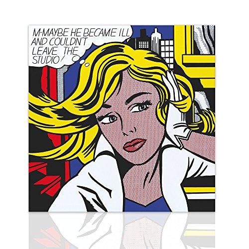 Malen auf Leinwand moderne comics m-maybe Hommage Roy Lichtenstein - Pop Art Canvas mit handgefertigten Holzrahmen - Design Colorscrazy