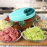 Gemüseschneider 3 Klingen, AMDE&UK Obst und Gemüse Zwiebel Zerkleinerer Küche Multizerkleinerer