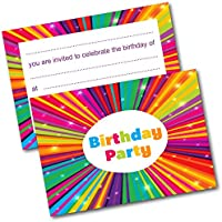 *NEW* Pack of 20 Childrens Birthday Party Invitations with Envelopes Kids Invites