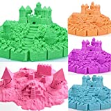 Gixmo 800 GRAM + 16 TOYS Random Color Kinetic Motion Magic Sand For Kids Clay Replacement