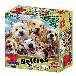 Howard Robinson - Selfies con Efecto 3D de Super Dogs (48 Piezas)