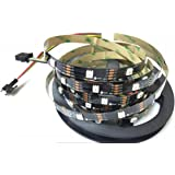 APA102C APA102 RGB Adressierbares Streifenlicht 30 LEDs/Pixel/M 5M 150 LEDs 5050 SMD LEDs Nicht wasserdicht IP20 DC5V Schwarz PCB