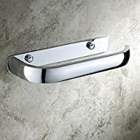 Aothpher Modern Wall Mounted Brass Toilet Roll Paper Holder Bathroom Tissue Rack Chrome Finish