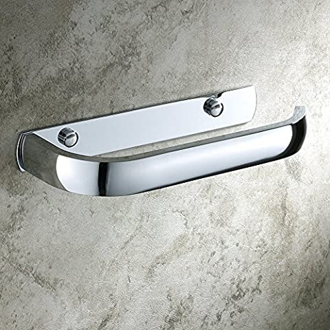 Aothpher Modern Wall Mounted Brass Toilet Roll Paper Holder Bathroom Tissue Rack Chrome Finish