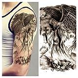 LZC 15x21cm tatuaggi tatuaggio temporanei impermeabile Adulti della spalla braccio grande e reale Decorazione del partito Vacanze Shoulder Tattoos Hombre y Mujer Uomo e donna Nero - Morte Sickle