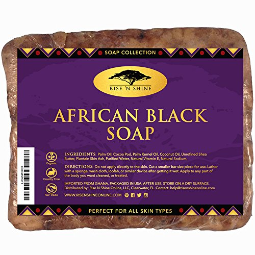 453g-Raw-African-Black-Soap-with-Coconut-Oil-and-Shea-Butter-Body-Wash-Shampoo-and-Face-Wash-Helps-Clear-Dry-Skin-Acne-Eczema-Psoriasis-Authentic-Organic-Homemade-Soap-Bar-from-Ghana