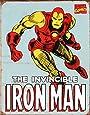 Tin Sign Iron Man Retro.