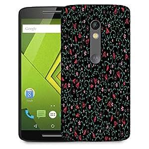 Snoogg Colorful Flowers Designer Protective Phone Back Case Cover For Lenovo Motorola Moto G4
