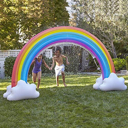 LOVEQIZI Arcobaleno Gonfiabile Gigante Arco Sprinkler, Acqua Gonfiabile Sprinkler Arcobaleno all\'aperto Acqua d\'Estate Spray Cool Play Fun Toy per Bambino Adulto