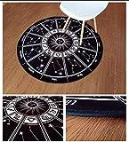 QAZ Runder Teppich Wohnzimmer Schlafzimmer Bett Sofa Couchtisch Wolldecke Warenkorb Kinder Zelte Matten Warenkorb Drehstuhl Runde Hocker Computer Sitzkissen (Farbe: #2, Größe: Durchmesser 140 CM)