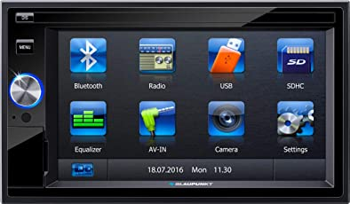 Blaupunkt San Marino 330 Bluetooth Car Multimedia Player with Touchscreen (Black)