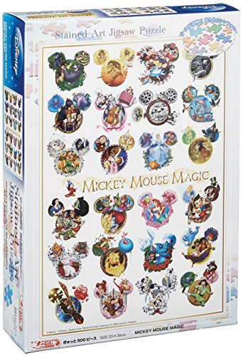 Preisvergleich Produktbild Disney Stained Art 500 Piece MICKEY MOUSE MAGIC DSG-500-431 tightly (japan import)