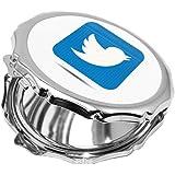 كوب سيراميك للقهوة بتصميم شعار تويتر ، لون اخضر