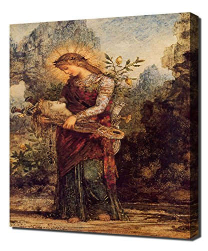 gustave-moreau-thracian-girl-carrying-the-head-of-orpheus-1864-art-reproduction-on-canvas-a-high-qua