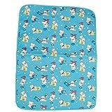 #3: Gurukripa New Born Baby Bed Protector Waterproof Multipurpose Changing Mat Plastic Sheets Baby Changer Sheet Cotton Foam Cushioned Sleeping Mat & Changing Mat Unisex, 0-9 Months, Pack of 1 (Blue)