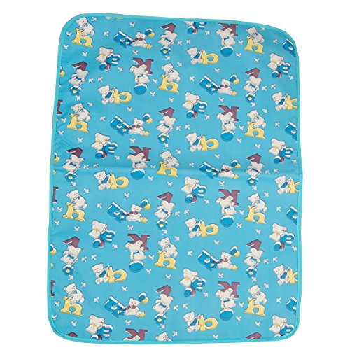 Gurukripa New Born Baby Bed Protector Waterproof Multipurpose Changing Mat Plastic Sheets Baby Changer Sheet Cotton Foam Cushioned Sleeping Mat & Changing Mat Unisex, 0-9 Months, Pack of 1 (Blue)  available at amazon for Rs.150