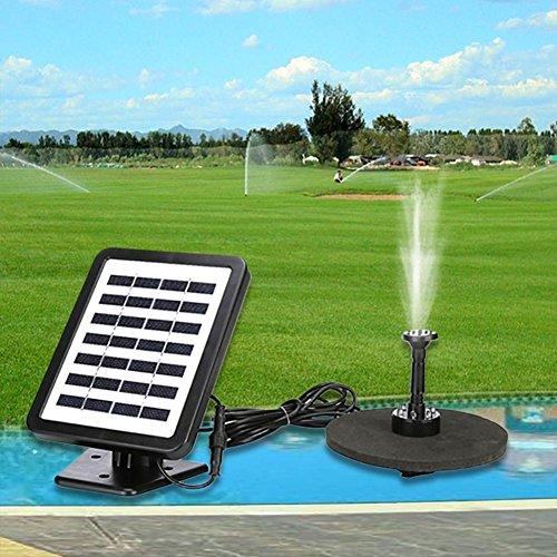 Solar Springbrunnen, Voberry Im Freien solarbetriebene Vogel-Bad-Wasser-Brunnen-Pumpe mit LED für Pool-Garten (Solar-brunnen Im Freien)