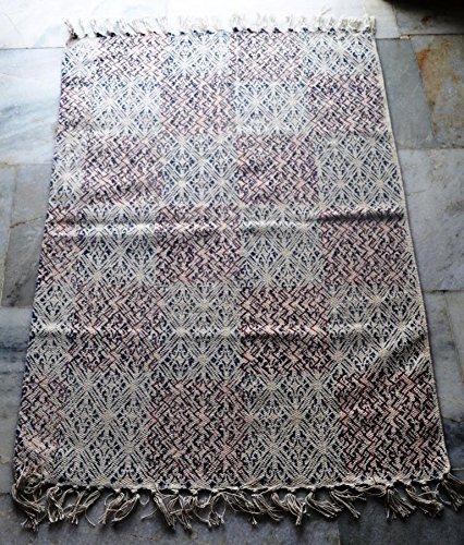 silkroude Indien Tapis Coton Indien Kilim Tapis Imprimé Turc Kilim Tapis Dhurrie Tapis Imprimé à la Main