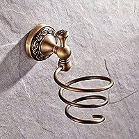 Bagno rack mensole a muro bagno tubo di rame fabbricato da Continental antique asciugacapelli stand asciugacapelli gancio Onda-F331 antique asciugacapelli rack