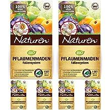 2 x Naturen Pflaumenmaden-Falle gegen Pflaumenwickler + 4 Nachfüll-Sets