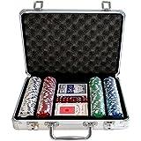 Weible Spiele 04740 - Maletín con fichas de póquer (200 unidades) [Importado de Alemania]