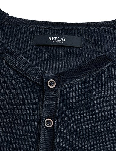 REPLAY, Felpa Uomo Blu (Dark Blue)