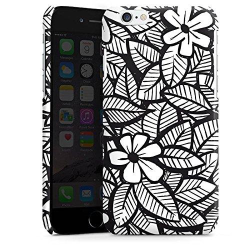 Apple iPhone 4 Housse Étui Silicone Coque Protection Fleurs Fleurs Feuilles Cas Premium brillant