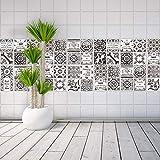 WALPLUS Autocollant Mural Amovible Auto-Adhésif Mural Art Stickers Vinyle Maison Décoration DIY Salon Cuisine Chambre Décor Peint Cadeau Tuile - Autocollant 10 cm X 10 cm - 24 Pièces