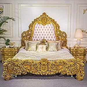 Craftatoz Jhadfunoos Teak Wood Bed Antique Style Luxury Bedroom Furniture:  Amazon.in: Home & Kitchen