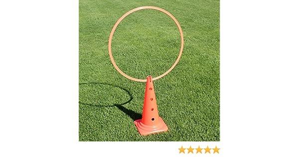 rot in 4 Farben Superhund24 4 x Kombi-Kegel 50 mit Kombi-Ring 70 cm f/ür Agility-Training