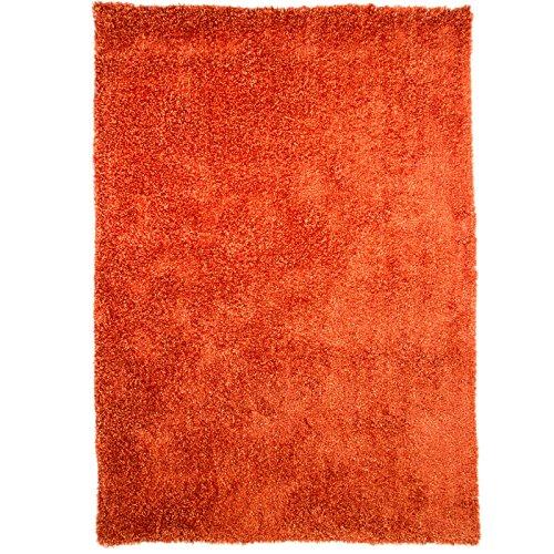 Just Contempo Plain Shaggy Teppich, schwarz, 60x 110cm, Orange, 60 x 110 cm (Grau Blau Contemporary Rug)