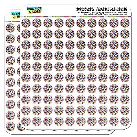 Candy Hearts Love St Valentin Anniversaire de Mariage de douche 1,3cm (1,3cm) Stickers Scrapbooking Artisanat