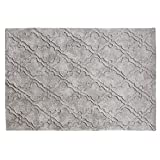 Loberon Teppich Oujda, Baumwolle, H/B ca. 240/140 cm, grau, hochwertige Qualität, Vintage-Stil