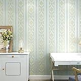 Moderne Vliestapeten, einfache Schlafzimmer Studie, vertikal gestreifte Wohnzimmer, Fernseher, Wand, Tapete, Sky blue