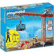 PLAYMOBIL 9399 Gran grúa de construcción con mando a distancia IR ...