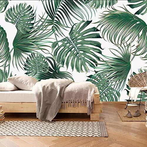 Qwerlp Fototapete 3D Tropical Blätter Bananenblatt Wand Wohnzimmer Schlafzimmer Moderne Wohnkultur Tapeten Für Wände Tapete-200X140CM (Wohnkultur)