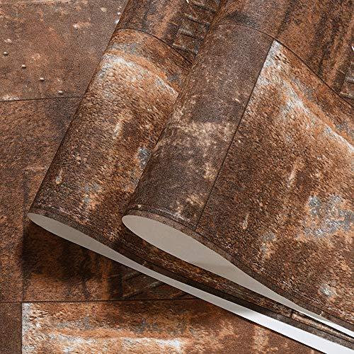 wallpaper Vento Industrie 3D Retro Nostalgie Nachbildung Eisen Tapeten KTV Tapeten KTV KTV Kleidung Bar Retro Yellow