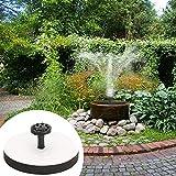 Dire-wolves Solarpumpe Solarbetriebener Brunnen Quadratische Solarbrunnen-Wasserpumpe mit Rahmen Wasserpumpe Come with 6 Different Spray Heads for Replacement