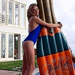 Beach Toy ® - Flotador gigante para piscina BOTELLA DE CHAMPAÑA, Mega fun Party
