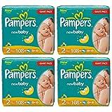 Pampers Windeln Baby Dry Mini 2 Gr. 3-6 Kg bis zu 648 Stk. (Mini 4 x 108 = 432 Stk)