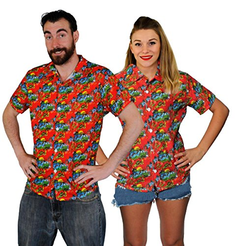 UNISEX HAWAIIAN SHIRT HAWAII SHIRT PALM BEACH SURF SUMMER PARTY STAG OUTFIT HOLIDAY LUAU TIKI AVAILABLE IN 4 DIFFERENT COLOURS AND 5 DIFFERENT SIZES