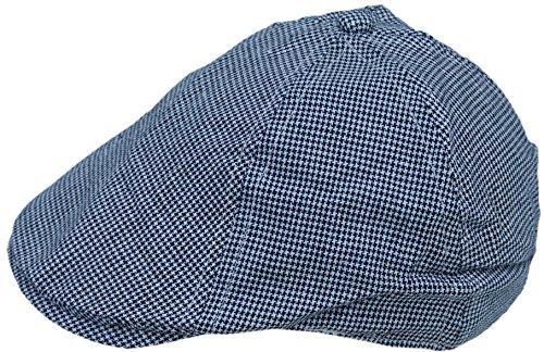 Cool4 Kleinkind 6-Panel Hahnentritt Flatcap Schwarz-Weiß Schiebermütze Gatsby Newsboy Cap KC19 (Hahnentritt-newsboy Hut)