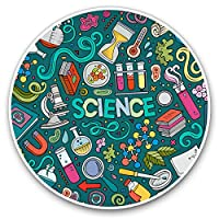 Awesome Vinyl Stickers (Set of 2) 7.5cm - Science Biology Chemistry Physics Uni Fun Decals for Laptops,Tablets,Luggage,Scrap Booking,Fridges,Cool Gift #8169